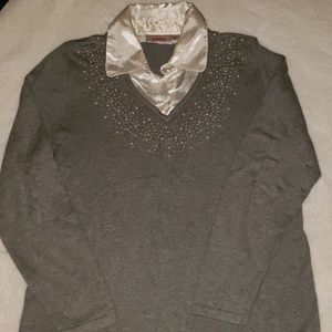 Quacker Factory Simulated Pearl Embellished Long S